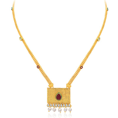 Sukkhi Shimmering Gold & Rhodium Plated AD Necklace Set For Women-3