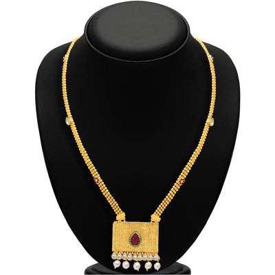 Sukkhi Shimmering Gold & Rhodium Plated AD Necklace Set For Women-2