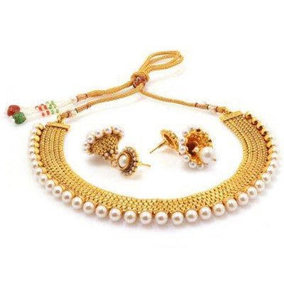 Sukkhi Gold Plated Moti Necklace Set For Women