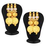 Sukkhi Astonish Gold Plated Temple Jewellery Coin Necklace Set For Women-4