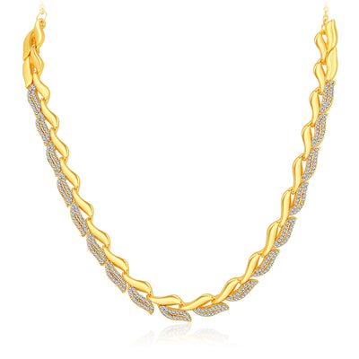 Sukkhi Graceful Gold Plated AD Necklace Set For Women-3
