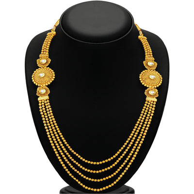 Sukkhi Pleasing Four Strings Gold Plated Necklace Set For Women-2