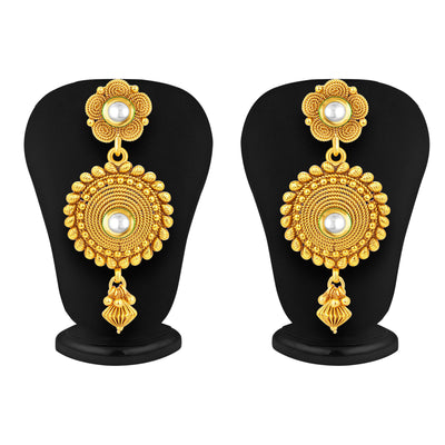 Sukkhi Pleasing Four Strings Gold Plated Necklace Set For Women-4
