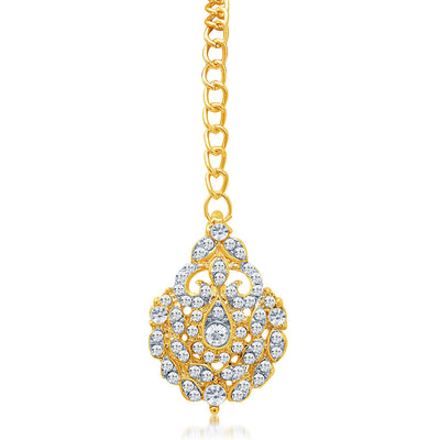Sukkhi Attractive Gold Plated AD Necklace Set For Women-3