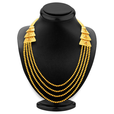 Sukkhi Magnificent Four String Gold Plated Necklace Set For Women-3