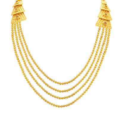 Sukkhi Magnificent Four String Gold Plated Necklace Set For Women-2