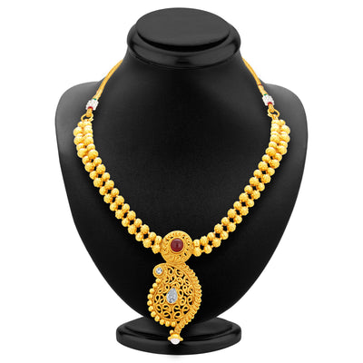 Sukkhi Pleasing Kairi Design Gold Plated Necklace Set For Women-3
