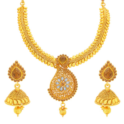 Sukkhi Astonish LCT Stone Gold Plated Necklace Set For Women