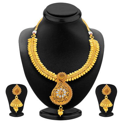 Sukkhi Astonish LCT Stone Gold Plated Necklace Set For Women-1