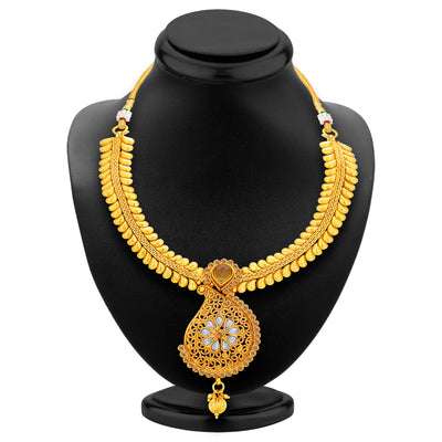 Sukkhi Astonish LCT Stone Gold Plated Necklace Set For Women-3
