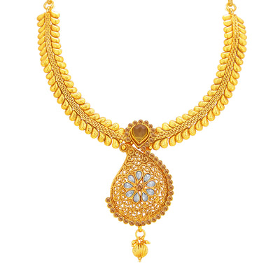 Sukkhi Astonish LCT Stone Gold Plated Necklace Set For Women-2