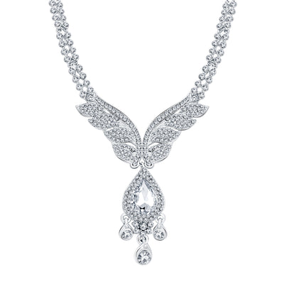 Sukkhi Finely Rhodium Plated AD Necklace Set For Women-3