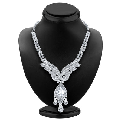 Sukkhi Finely Rhodium Plated AD Necklace Set For Women-2