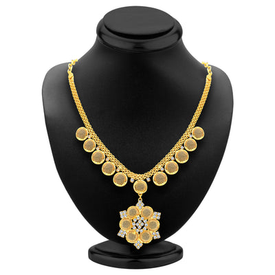 Sukkhi Artistically Gold Plated AD Necklace Set For Women-3