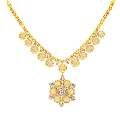 Sukkhi Artistically Gold Plated AD Necklace Set For Women-2