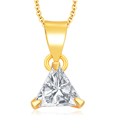 Pissara Pleasing Gold Plated CZ Pendant Set For Women-1