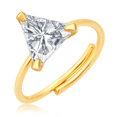 Pissara Stunning Gold Plated CZ Ring For Women