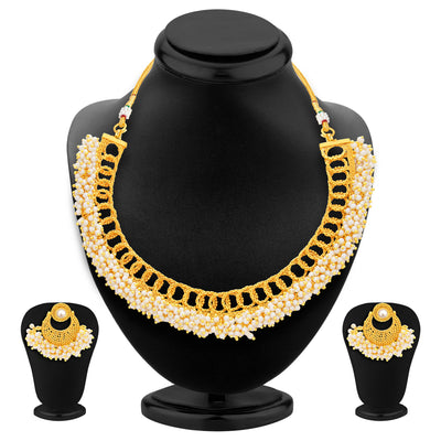 Sukkhi Finely Gold Plated Necklace Set For Women-1