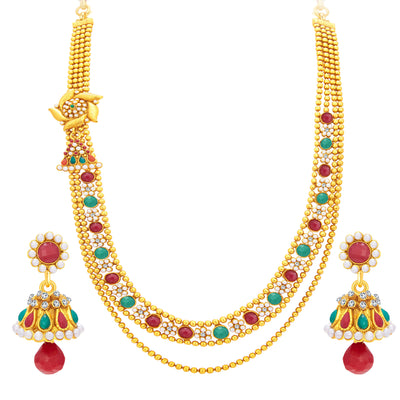 Sukkhi Amazing Two String Gold Plated Necklace Set For Women