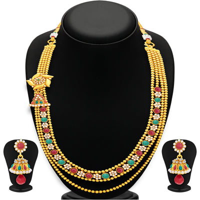 Sukkhi Amazing Two String Gold Plated Necklace Set For Women-1