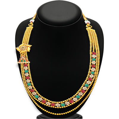 Sukkhi Amazing Two String Gold Plated Necklace Set For Women-3
