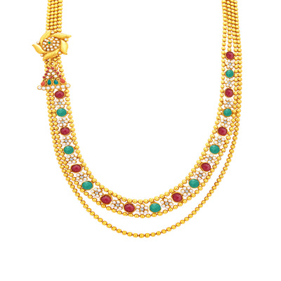 Sukkhi Amazing Two String Gold Plated Necklace Set For Women-2
