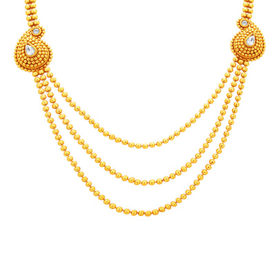Sukkhi Fabulous Three String Gold Plated Necklace Set For Women-2