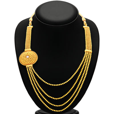 Sukkhi Delightful Four String Gold Plated Necklace Set For Women-3
