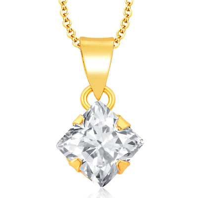 Pissara Sublime Gold Plated CZ Pendant Set For Women-1