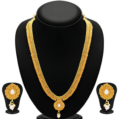 Sukkhi Stunning Jalebi Gold Plated Necklace Set For Women-1