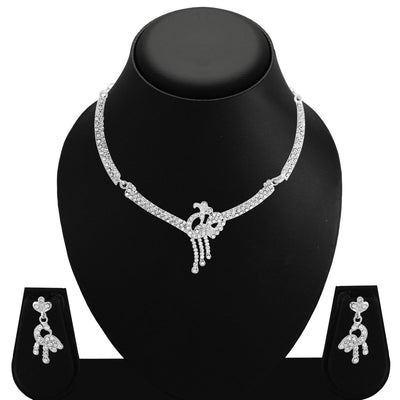 Sukkhi Amazing Rhodium Plated AD Set 0f 4 Necklace Set Combo For Women-4