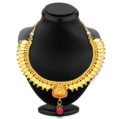 Sukkhi Exotic Laxmi Temple Coin Gold Plated Necklace Set For Women-3