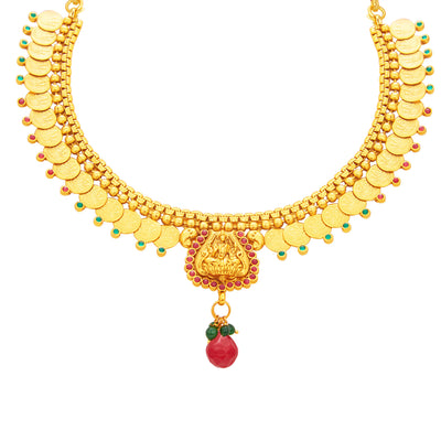 Sukkhi Exotic Laxmi Temple Coin Gold Plated Necklace Set For Women-2