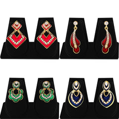 Sukkhi Glorious Gold Plated AD Combo Earring For Women