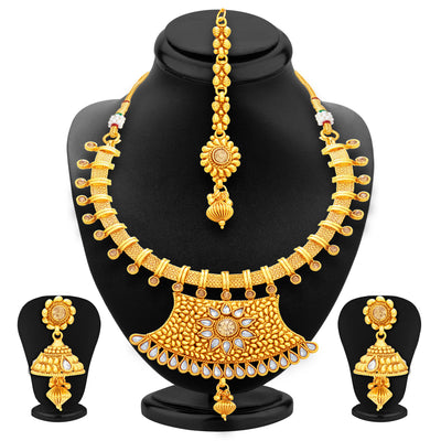 Sukkhi Modish Gold Plated Necklace Set For Women-1