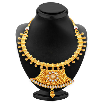 Sukkhi Modish Gold Plated Necklace Set For Women-3