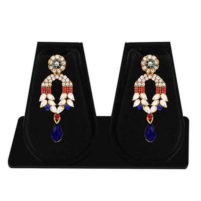 Sukkhi Marquise Gold Plated AD Combo Earring For Women-2