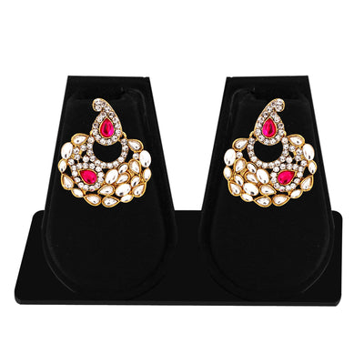 Sukkhi Marquise Gold Plated AD Combo Earring For Women-4