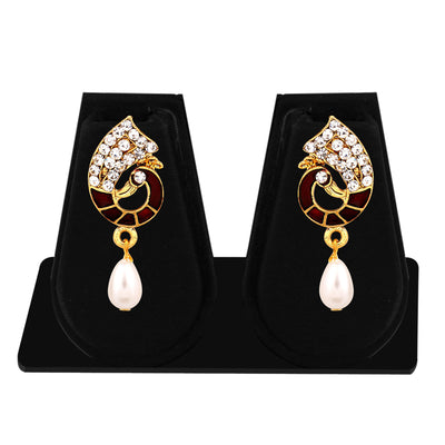 Sukkhi Marquise Gold Plated AD Combo Earring For Women-6