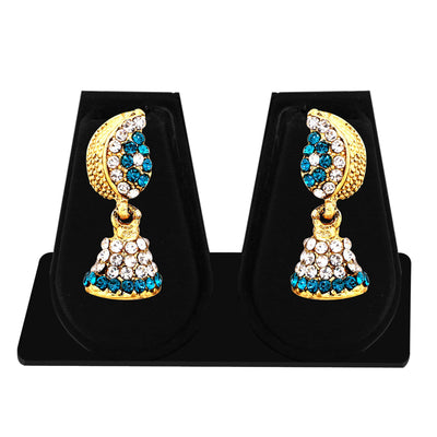 Sukkhi Marquise Gold Plated AD Combo Earring For Women-8