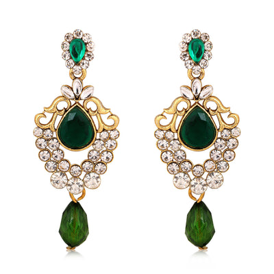 Sukkhi Exquisite Gold Plated AD Combo Earring For Women-3