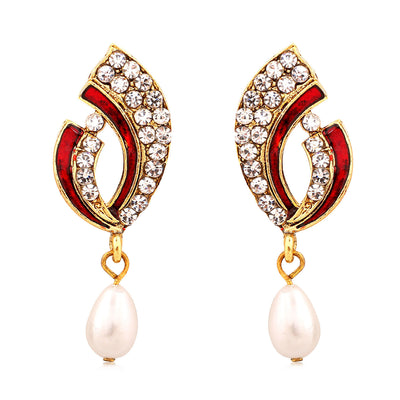 Sukkhi Exquisite Gold Plated AD Combo Earring For Women-5