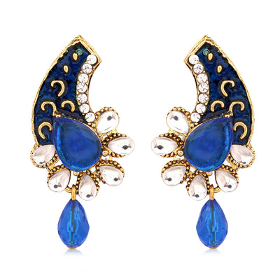 Sukkhi Exquisite Gold Plated AD Combo Earring For Women-9