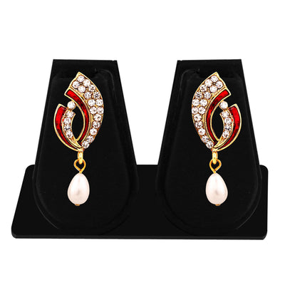 Sukkhi Exquisite Gold Plated AD Combo Earring For Women-4