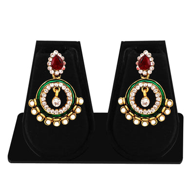 Sukkhi Exquisite Gold Plated AD Combo Earring For Women-6