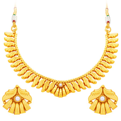 Sukkhi Fancy Gold Plated Necklace Set For Women