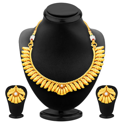 Sukkhi Fancy Gold Plated Necklace Set For Women-1