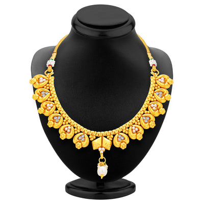 Sukkhi Delightly Gold Plated Necklace Set For Women-3