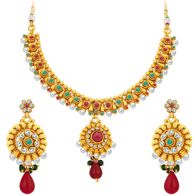 Sukkhi Gorgeous Gold Plated Necklace Set For Women