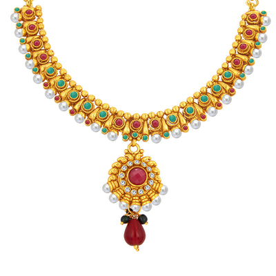 Sukkhi Gorgeous Gold Plated Necklace Set For Women-2